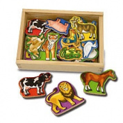Melissa & Doug Toy, Magnetic Wooden Animals