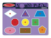 Melissa & Doug Sound Puzzles and Blocks Shapes Sound Puzzle