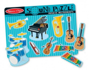 Melissa & Doug Musical Instruments Sound Puzzle - Wooden Peg Puzzle