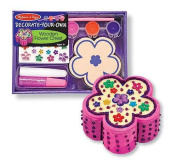 Melissa & Doug Arts & Crafts Decorate Your Party Favours Wooden Flower Chest