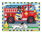 Melissa & Doug Fire Truck Chunky Wooden Puzzle