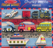 Melissa & Doug Kids Toy, Vehicles Chunky Puzzle