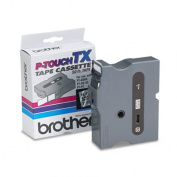 TX Tape Cartridge for PT-8000, PT-PC, PT-30/35, 1w, Black on Clear