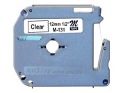 M Series Tape Cartridge for P-Touch Labelers, 1/2w, Black on Clear