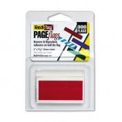 Redi-Tag Removable/Reusable Page Flags, Red, 300 Flags