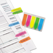 Redi-Tag 32118 SeeNotes Transparent Film Arrow Flags Assorted Colors Five Pads of 50 Flags/Pk
