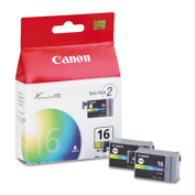 BCI16 (BCI-16) Ink Tank, 75 Page-Yield, 2/Pack, Tri-Color