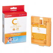 EC25L Easy Photo Ink/Label Set, 25 Credit Card Size Sheets, 25 Page Yield