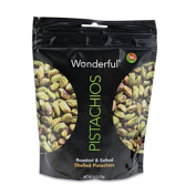 Wonderful Shelled Pistachios, Roasted & Salted, 6 oz. Pack, 10/Box