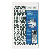 Chartpak CHA01020 Vinyl Numbers-Letters- .75in.- Black