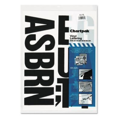 Chartpak CHA01175 Vinyl Letters- 4in.- Black