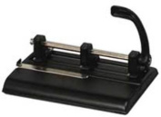 Master Products 1325B 40-Sheet Lever Action 2- to 7-Hole Adjustable Punch 9/32 Holes Black