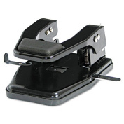 """40-Sheet Heavy-Duty Two-Hole Punch, 9/32"""" Holes, Padded Handle, Black"""