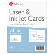 Microperforated Business Cards, 2 x 3 1/2, White, 2500/Box