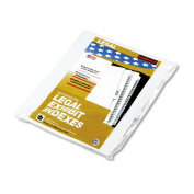 Kleer-Fax Letter Size Individually Numbered 1/25th Cut Side Tab Index Dividers, 25 Sheets per Pack, White, Number 15