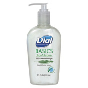 Dial Corporation 1700006028 Dial Basics Hypoallergenic Liquid Hand Soap, 220ml Pump Bottle