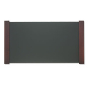 Carver Desk Pad with Wood End Panels, 37-1/2 x 20-3/8 Inches, Mahogany Finish