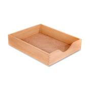 Carver Hardwood Stackable Desk Tray, Letter Size, 13.5 x 28cm x 7cm , Oak Finish
