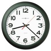 "Norcross Auto Daylight-Savings Wall Clock, 12-1/4"", Black, 1 AA"