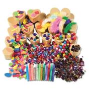 Chenille Kraft Company CKC1721 Paper Mache Kits- Glue- Glitter Pens