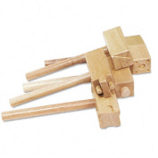Wooden Clay Hammers with Two Patterns Each, Five