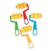 Sponge Roller Painting Set, Zig Zag/Wave/Dots/Stripes Designs, 4/Pack
