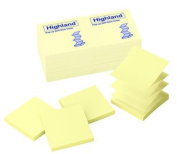 3M Company MMM6549PUY Highland Pop-Up Notes 3 X 3 Yew 12 Pads