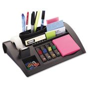 Post-it C-50 Notes Dispenser w/Weighted Base- Plastic- 12 x 8 x 2- Charcoal Gray