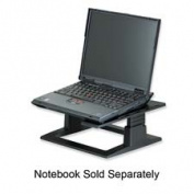 Notebook Riser with Adjustable Height, 13 x 13 x 3 1/4 - 5 3/4, Charcoal Gray