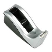 3M C60ST Value Desktop Tape Dispenser Attached 1 in.core Black/Silver