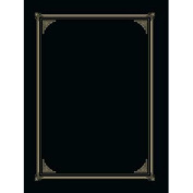 Certificate/Document Cover, 12-1/2 x 9-3/4, Black, 6/Pack