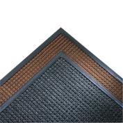 Super-Soaker Wiper Mat w/Gripper Bottom, Polypropyl, 34 x 119, Dark Brown