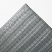 Crown FL3660GY Ribbed Antifatigue Mat- Vinyl- 36 x 60- Gray