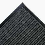 Needle Rib Wipe & Scrape Mat, Polypropylene, 48 x 72, Gray