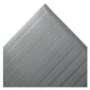 Crown Ribbed Antifatigue Mat, Vinyl, 36 x 120, Grey