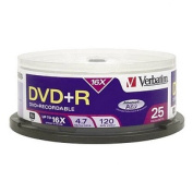 Verbatim AZO DVD+R 4.7GB 16X with Branded Surface - 25pk Spindle