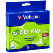 CD-RW 5pk Slim Case