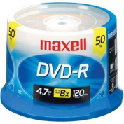 Maxell DVD-R Disc, 4.7GB, Spindle, 50/Pack
