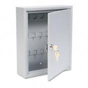 "Buddy Products 128-32 Key Cabinet- 28-key- Steel- Platinum- 10"" x 3"" x 12"""