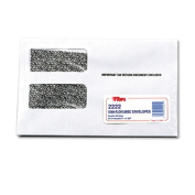 TOPS Double Window Tax Form Envelope/1099R/Misc Forms, Gummed, 9 x 5 5/8, 24/Pack
