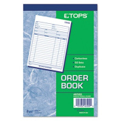 Sales Order Book, 5-9/16 x 7-15/16, Two-Part Carbonless, 50 Sets/Book