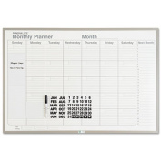 Magna Visual ML231 Monthly Planning Board Porcelain-On-Steel 36 x 24 Gray