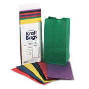 Rainbow Bags, 6# Uncoated Kraft Paper, 6 x 3-5/8 x 11, Assorted Bright, 28/Pack. Includes 28 arts and crafts bags.