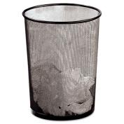 Wastebasket, Round, Wire Mesh, 11 1/2 dia x 14 1/4h, Black