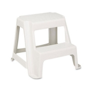 Two-Step Stackable Economy Step Stool, 18-1/2w x 18-1/4d x 16h, Almond
