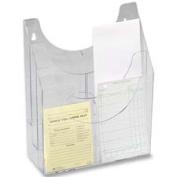 Optimizers Multipurpose Six-Pocket Organizer, 9-1/2w x 4d x 12h, Clear