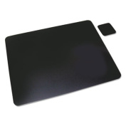 Leather Desk Pad, 20 x 36, Black