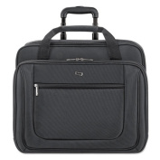 "Classic 17.3"" Rolling Case, Polyester, 17 1/2 x 9 x 14, Black"