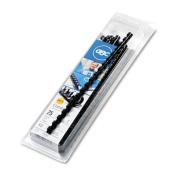 "CombBind Standard Spines, 3/8"" Diameter, 55 Sheet Capacity, Black, 25/Box"