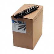 "GBC 4200022 CombBind Standard Spines- 2"" Diameter- 425 Sheet Capacity- Black- 50/Box"